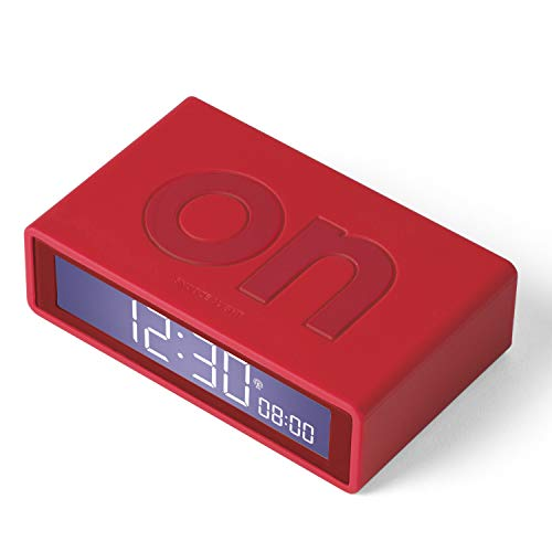 LEXON Flip RCC Despertador LCD Rojo