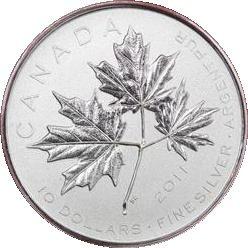 2011Kanada Forever Maple Leaf Fine Silber BU Coin Box mit Echtheitszertifikat -