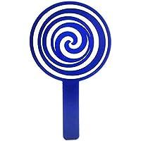 Preisvergleich für Baby-lustiges Spielzeug Mini Cartoon Candy Form Hand Spiegel Kleine Glas Spiegel für Handwerk Dekoration Kosmetik Zubehör Blau