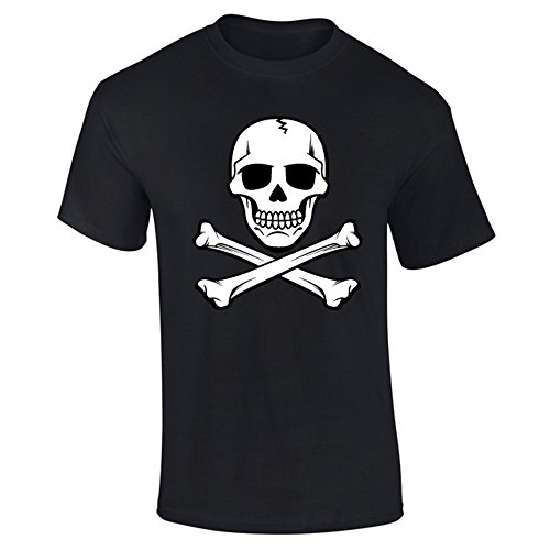 Men's Skull And Crossbones Pirate T-shirt Black, Choice of colours, S to XXL