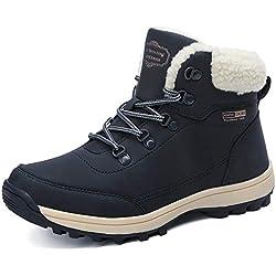 ABTOP Botas Hombre Mujer Botines Zapatos Invierno Botas de Nieve Cálido Fur Forro Aire Libre Boots Urbano Senderismo Esquiar Caminando 36-47
