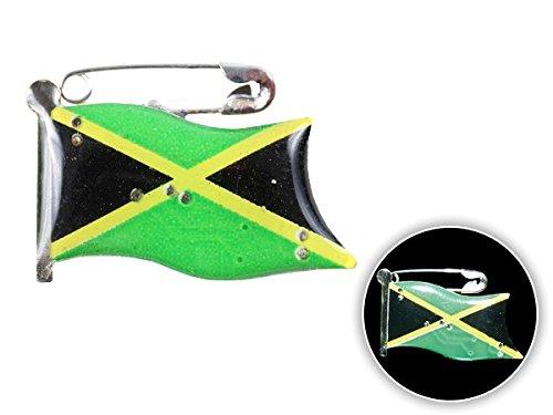 Spilletta LED con luce intermittente bandiera giamaica jamaica spilla pin badge calcio europei mondiali tifosi ultra (108) - Personalizzati Pin Badge