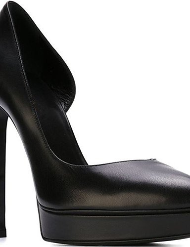 WSS 2016 Chaussures Femme-Mariage / Bureau & Travail / Soirée & Evénement-Noir / Rouge-Talon Aiguille-Talons / A Plateau-Talons-PU black-us7.5 / eu38 / uk5.5 / cn38