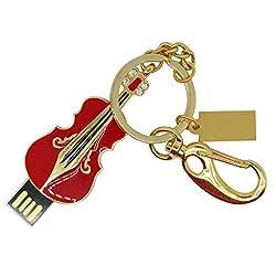Segolike Violin USB Flash Drive U Stick Pen DrivesCapacity Memory for Laptop Red 8GB