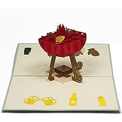 Favour Pop Up Gruss- / Einladungskarte - Grillzeit. Aufwändige Handarbeit und ausgefeilte Lasertechnik schaffen auf kleinstem Raum ein filigranes Kunstwerk. TF071