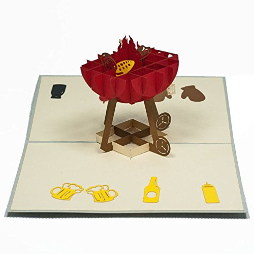 Favour Pop Up Gruss- /Einladungskarte - Grillzeit. Stilvolles Design, aufwändige Handarbeit und ausgefeilte Lasertechnik schaffen auf kleinstem Raum ein filigranes Kunstwerk.. TF071