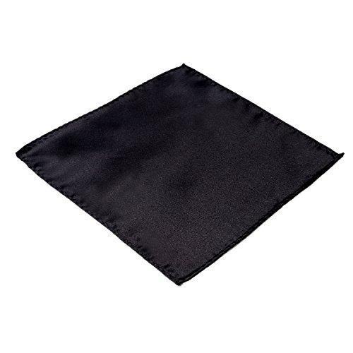 DonDon Herren Einstecktuch schwarz (Schwarzes Einstecktuch)