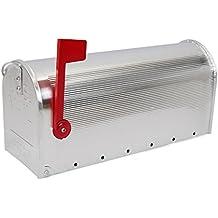 Buzón US Mail de aluminio para correo postal americano plateado