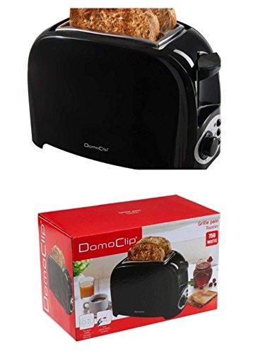 Kompakter 2-Scheiben-Toaster mit 750 Watt (Auftaufunktion, Schnellstoppfunktion, Krümelschublade, Toastautomat, schwarz)