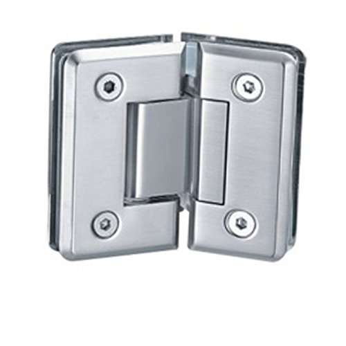 135 Degree Shower Hinge Door Bracket | Single Sided | Light Satin Nickel Finish by Di Vapor