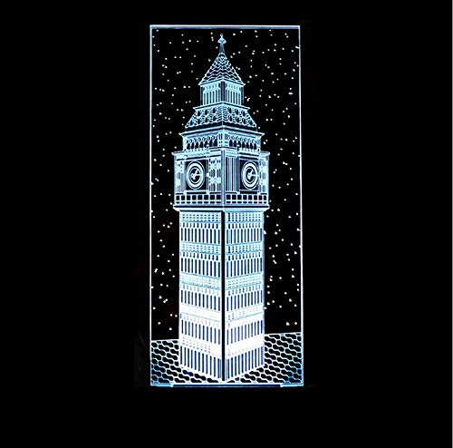 Schlafzimmer Dekor Nacht 3D Big Ben Visuelle Nachtlicht Bunte London Gebäude Elizabeth Tower Tischlampe Baby Schlaf Beleuchtung Geschenk