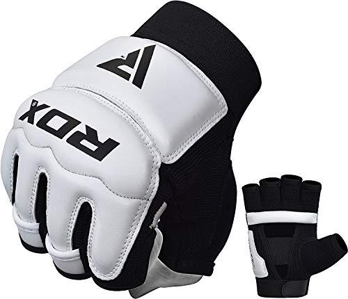 RDX Guanti Taekwondo Guantoni TKD Boxe Grappling Sacco WTF Semi Contact Arti Marziali Allenamento Sparring