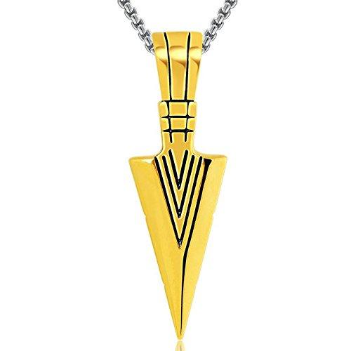 l Anhänger Männliche Persönlichkeit Transformator Blue Blood Schwert Halskette Blitz Anhänger, Gold (Transformatoren Geburtstag)