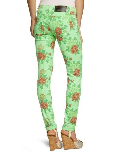 One Green Elephant Damen Jeans HO3132/100 Skinny / Slim Fit (Röhre) Normaler Bund Grün (50053)