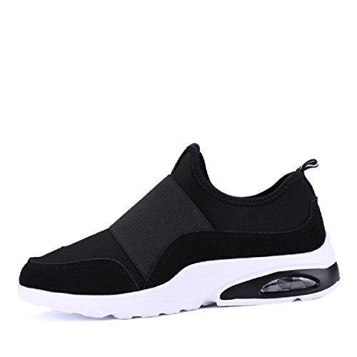 Herren Sportschuhe Ausbildung Atmungsaktiv Elastizität Lässige Schuhe Lazy Schuhe Black