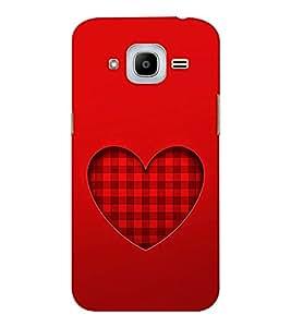 EPICCASE checked heart Mobile Back Case Cover For Samsung J2 2016 (Designer Case)