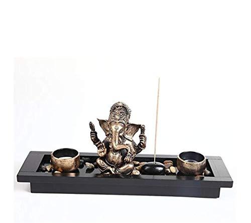 Decoración Del Hogar Joyas Creativas Cerámica PastoralPasa El Mouse Encima De La Imagen Para Ampliar Conjunto De Regalo Para Titulares De Velas, Estatua De Elefante, Ornamento De Ganesha, Cabeza