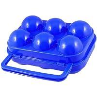 Box contenitore in plastica blu per uova,vassoio pieghevole per picnic all'aperto