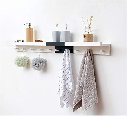 LNLW Hängende Regale mit Haken Wandregal mit Haken Wandgarderobe aus Holz Schwimmende Regale - Schwimmende Holz-mantel