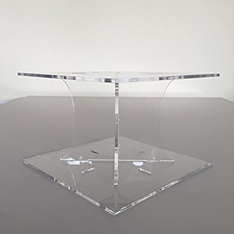 Classic Square Single Tier Cake Stand - Clear - Base