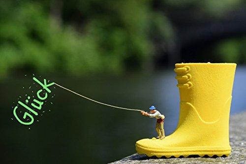 Fotokunst als Postkarte - Glück angeln (Stehen Miniatur)