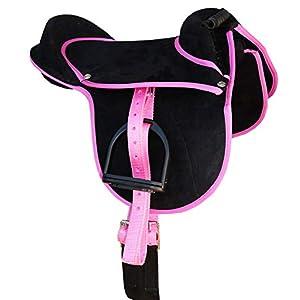 Reitsport Amesbichler AMKA Kinder Pony Reitkissen Luca schwarz/pink 10 Ponysattel komplettes Set auch für Holzpferde…