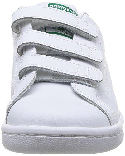 adidas Originals Stan Smith CF C - Scarpe per bambini, unisex Multicolore (Ftwwht/Ftwwht/Green)