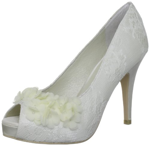 Menbur Wedding Rea, Damen Peep-Toe Pumps, Elfenbein (Ivory), 38 EU