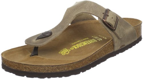 BIRKENSTOCK Gizeh, Unisex Kinder Gizeh, Braun - Brown (Tobacco Brown Leather) - Größe: 38.5 EU - Womens Damen-kinder-flip-flops