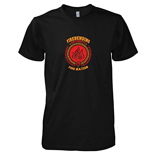 TEXLAB - Firebending University - Herren T-Shirt, Größe XL, schwarz
