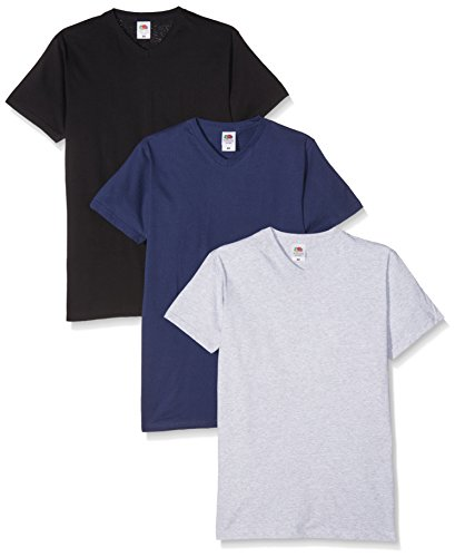 Fruit of the Loom Men's V-Neck Valueweight T-Shirt
