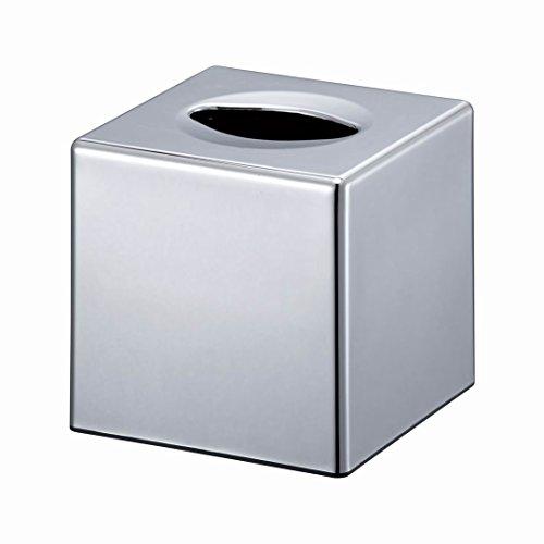 VERSACE DUNN Versace, mit Spender, Taschentuchbox Kleenex mit Halter Badezimmer-Organizer, Cube Chrome (Schlafzimmer Kommode Chrome)
