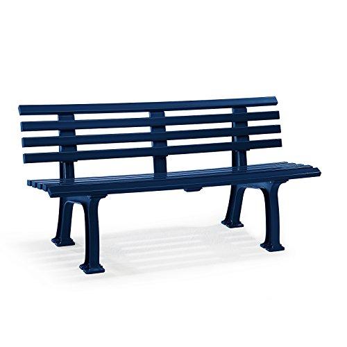 Parkbank aus Kunststoff – mit 9 Leisten – Breite 1500 mm, weiß – Bank Bank aus Holz, Metall, Kunststoff Bänke aus Holz, Metall, Kunststoff Gartenbank Kunststoff-Bank Kunststoff-Bänke Ruhebank - 6