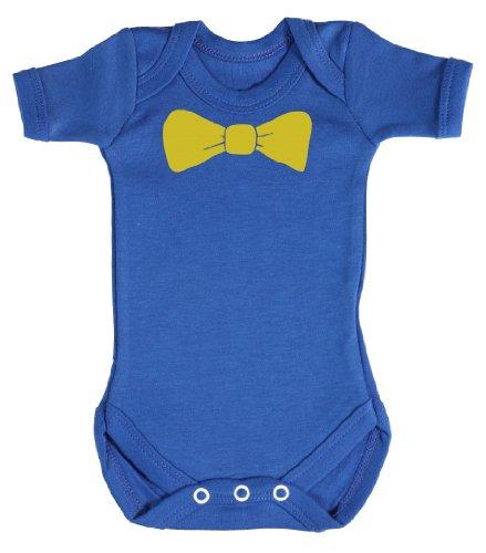 Baby Buddha - Bow Tie Baby Bodys/Strampler 0-3 Monate Blau