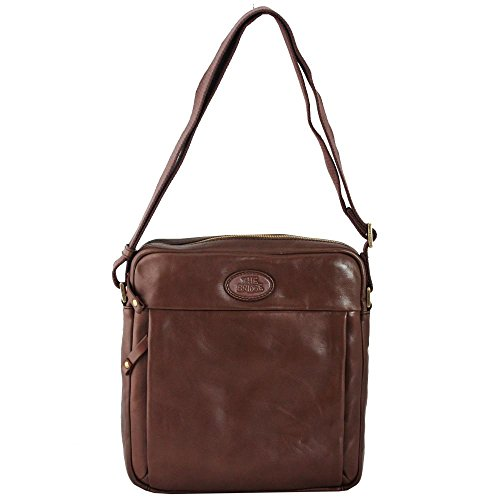 The Bridge Chatwin Uomo Man Bag Sacoche bandoulière cuir 28 cm marrone