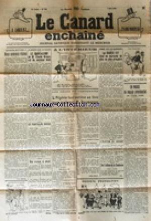 CANARD ENCHAINE (LE) [No 723] du 07/05/1930 - DESSIN DE MONNIER - L'ELECTION DE LORIENT - L'ALGERIE SE LEVE POUR ACCLAMER DOUMERGUE - EN MARGE DU VOYAGE PRESIDENTIEL PAR SCIZE - LA BOURSE EST DANS UN MARASME DE PLUS EN PLUS PROSPERE - LE RADICALISME DE CLAUDE BRUYAS