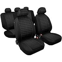 RMG r04V102Asientos COMPATIBLES para KA fundas coche R04negros grises para asientos con airbag braciolo y asientos sdoppiabili