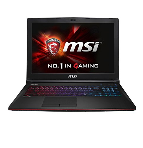 MSI GE62-2QFUi781 39,6 cm (15,6 Zoll) Laptop (Intel Core i7-4720HQ, 2,6GHz, 8GB RAM, 1TB HDD, NVIDIA GTX 970M, DVD, Win 8.1) Schwarz/Rot