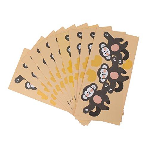 tscher Süßigkeiten Dekor Karte Partei Baby Dusche Geschenke Tags - Brauner Affe ()