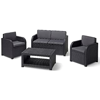 Allibert Lounge-Set Modena 4tlg, graphit/cool grey
