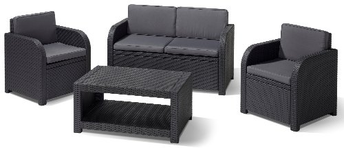 Allibert Lounge-Set Modena 4tlg, graphit/cool grey -