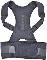 Moonshine Belly Sweat Belt Brace Shoulder Back Support Corrector- XL- Black