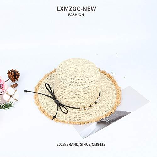 mmer im Freien Sonnenschutz Sonnenhut Baby Strass Pflaumenblüte Bogen Haar Schüssel Kappe, weiß, S ()