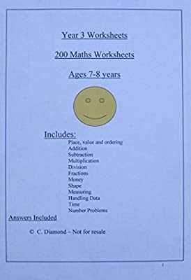 200 Year 3 Maths Worksheets KS2 - pdf file to print out by worksheets-online