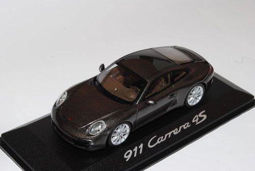 Porsche 911 991 Carrera 4S Coupe Braun Ab 2012 1/43 Minichamps Modell Auto