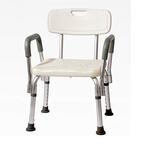 WG Toilettensitz Stuhl Ältere Menschen Bad Dusche mit Armlehnen Rückenlehne Toilettenstühle Duschstuhl Schwangere Frauen Spa Bank Bad Stuhl,D - Für ältere Menschen Dusche Stuhl