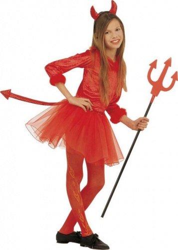 Moderne Teufel Kostüm - WIDMANN Moderne Teufel Kostüm für Mädchen