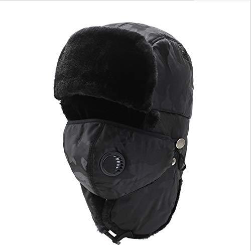 Unisex Wintermütze mit Ohrenklappen Jagd-Trooper-Hut-Unisexwindproof Ski-warme starke Sturmhaube mit Ohrenklappe-Gesichtsmaske-Motorrad-Gesichtsschild für Mannfrauen-Halswärmer für Winter im Freien ()