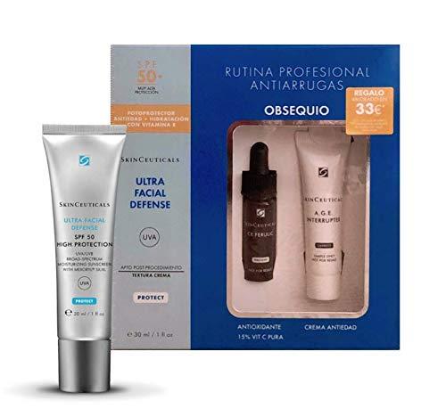 Skinceuticals Anti-Falten-Behandlung, 50 + 30 ml + Anti-Falten-Behandlung 15 Tage (Rostschutzmittel CE Ferulic + Creme AGE Schalter)