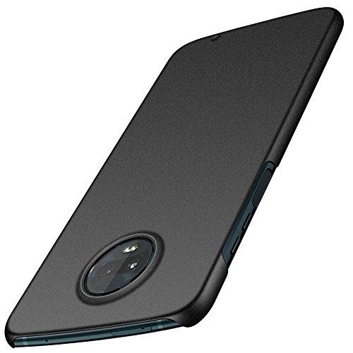 ORNARTO Moto Z3 Play Hülle,Z3 Hülle, Ultra Dünn Schlank Stoßfest, Anti-Scratch FeinMatt Einfach Handyhülle Abdeckung Stoßstange Hardcase für Motorola Z3/Z3 Play(2018) 6.0' Matt Kies Schwarz